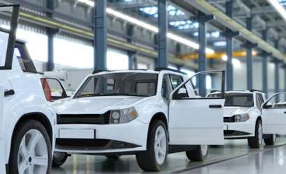 autóipar EDI: gyártósoron végighaladó autók