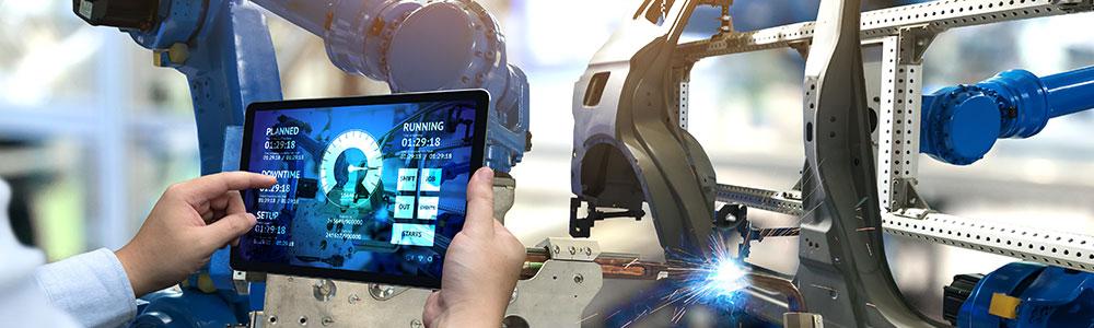 Központosított platform az autóiparban, tablet kijelzőn