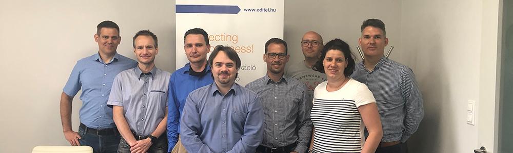 Az EDITEL Hungary csapata, középen Légrádi László, az új ügyvezető